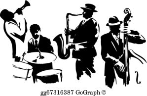 Free jazz clipart images clipart free stock Jazz Band Clip Art - Royalty Free - GoGraph clipart free stock