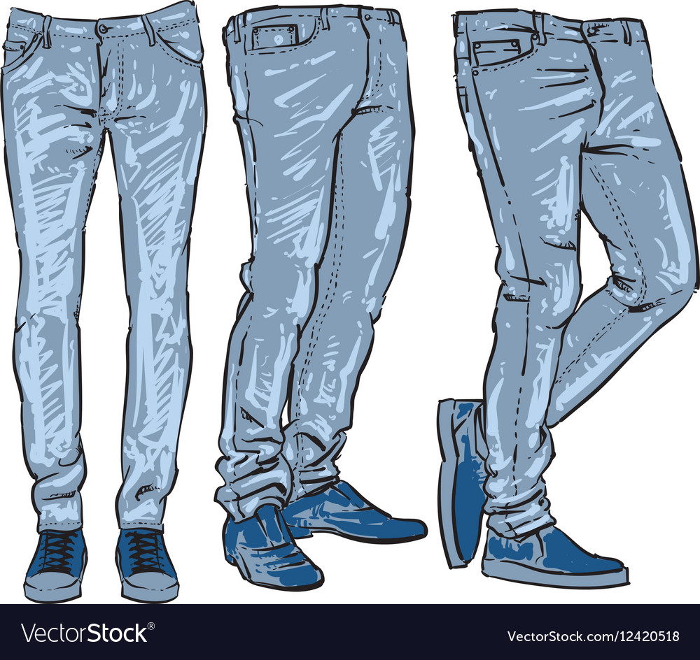 Clipart jeans hd royalty free stock Blue jeans set denim clip art sketch royalty free stock
