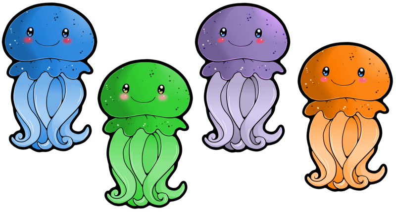 Group of fish clipart png picture library library Cute Jellyfish Clipart | Clipart Panda - Free Clipart Images picture library library