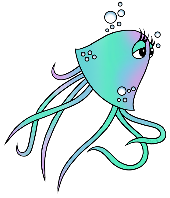 Animals Clip Art by Phillip Martin, Jellyfish svg transparent