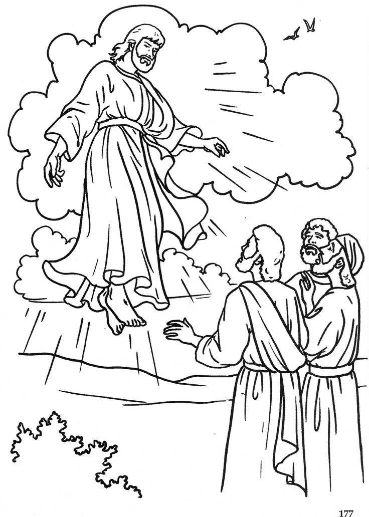 Clipart jesus ascending into heaven for kids svg black and white 10+ images about Catholic Crafts on Pinterest | Holy rosary, Daily ... svg black and white