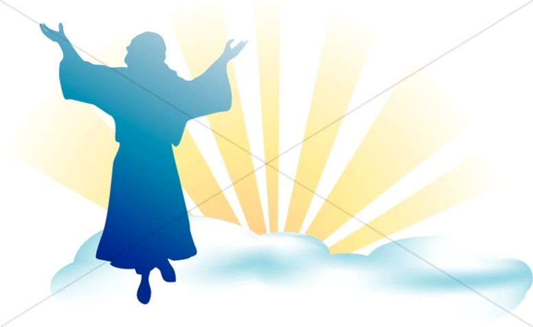 Clipart jesus ascending into heaven for kids image library stock Ascension Day Clipart, Ascension Images - Sharefaith image library stock