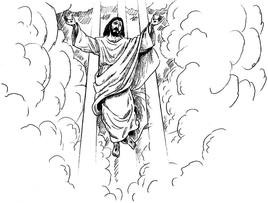 Clipart jesus ascending into heaven for kids clip art library Clipart for come to jesus - ClipartFest clip art library