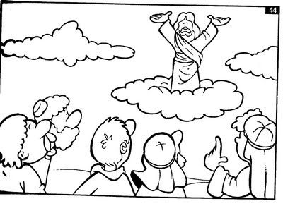 Clipart jesus ascending into heaven for kids picture black and white Clipart jesus ascending into heaven for kids - ClipartFest picture black and white