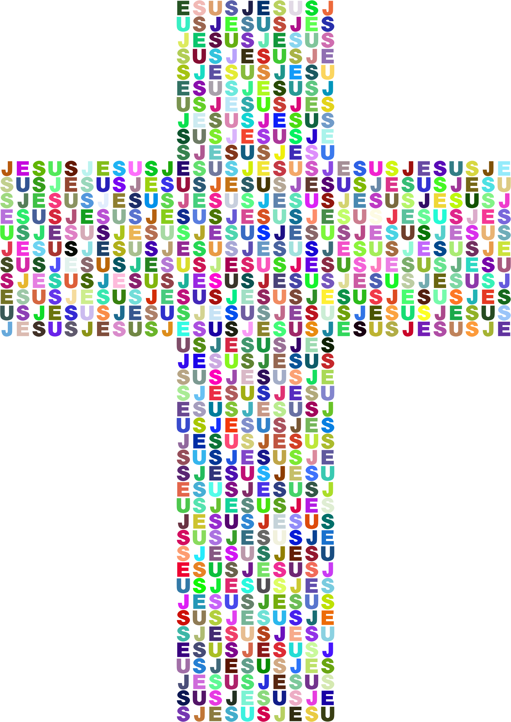 Clipart jesus cross clip library library Clipart - Jesus Cross Typography II Prismatic clip library library