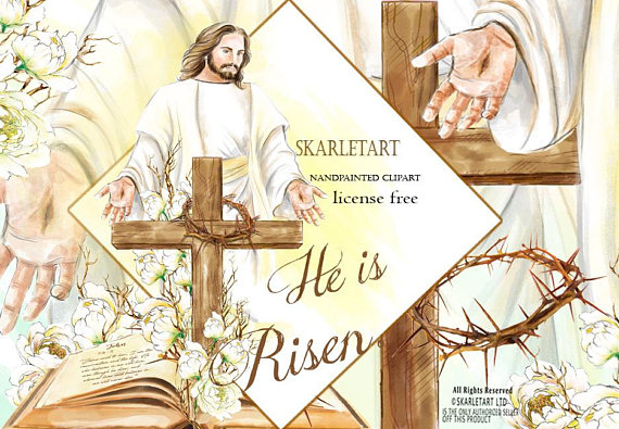 Free download easter clipart religious clip transparent stock Easter Clipart, Jesus Clipart, Resurrection,Watercolor easter ... clip transparent stock