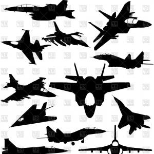 Clipart jet-way clip art royalty free stock Military Jet Fighter Silhouettes Vector Clipart | SOIDERGI clip art royalty free stock