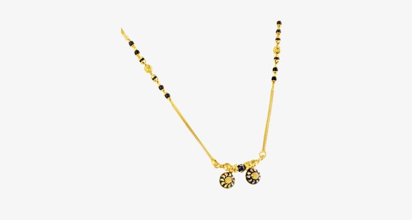 Small mangalsutra design clipart graphic freeuse library Traditional Mangalsutra With Black Beads In 22kt Yellow - Png Mini ... graphic freeuse library