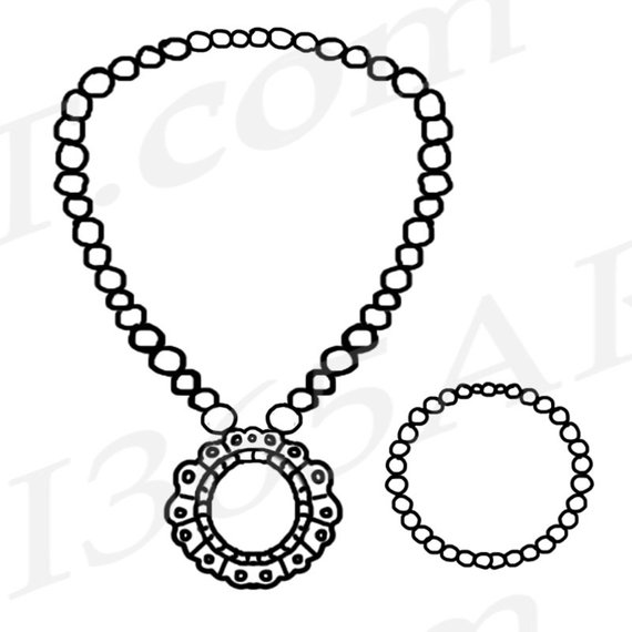 Siwlry clipart image black and white download 50% OFF Jewelry Clipart, Jewelry Clip art, Pearl Necklace Clipart ... image black and white download