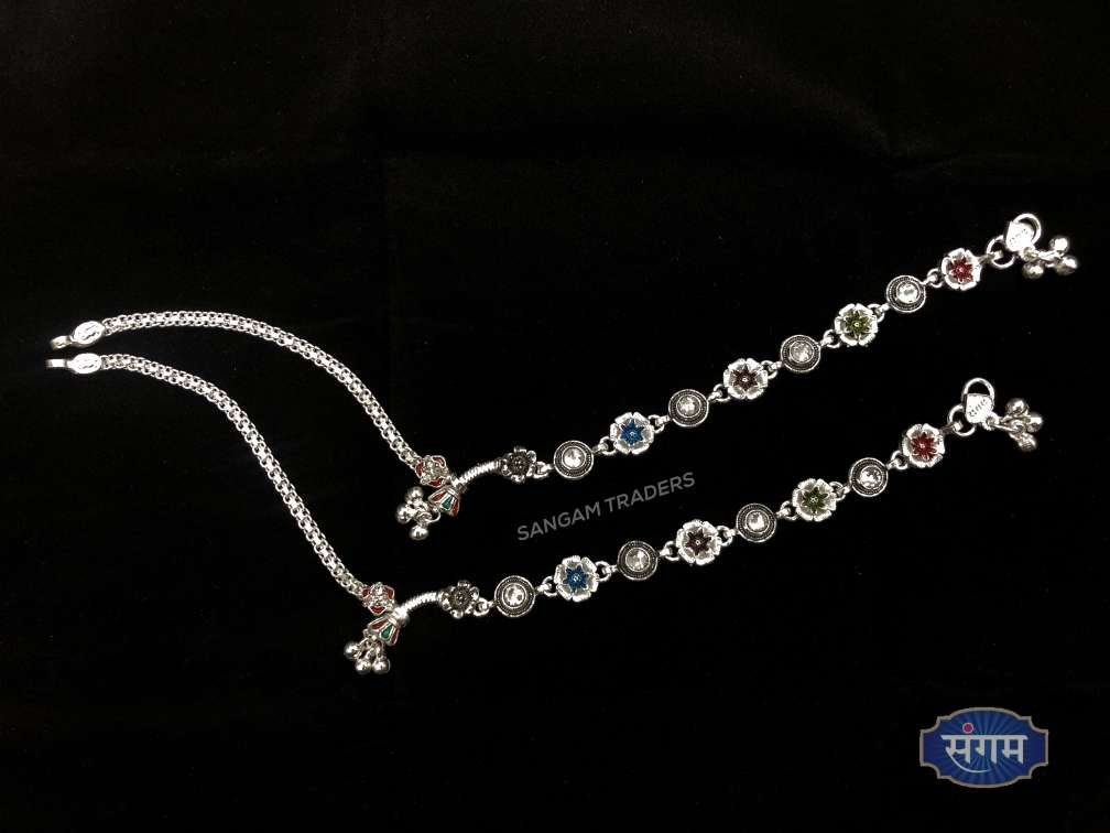 Clipart jewellers silver payal image library download Sangam Traders | Bombay Fancy Silver Payal (Anklet) image library download