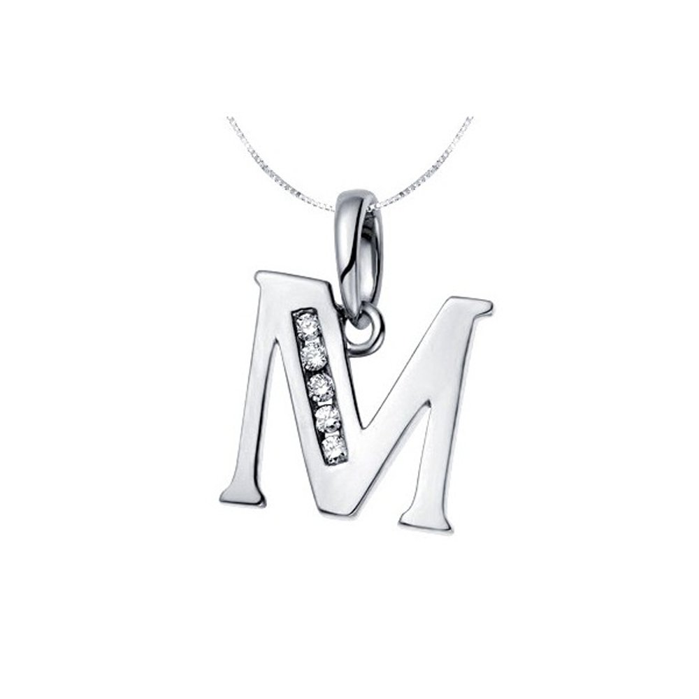 Clipart jewellers silvostyle png library download Silvostyles Initial \'M\' In Style Fashion Pendant Women 14K White ... png library download