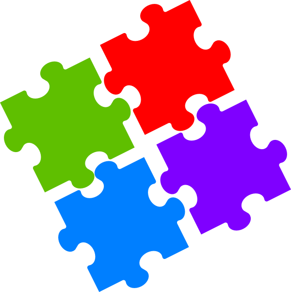 Clipart jigsaw puzzle vector free library Jigsaw Puzzle Clip Art at Clker.com - vector clip art online ... vector free library