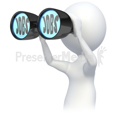 Clipart job search. Stick figure searching for