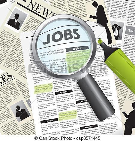 Clipart job search. Seeking kid stock illustration