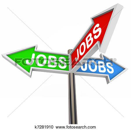 Stock illustration of jobs. Clipart job search
