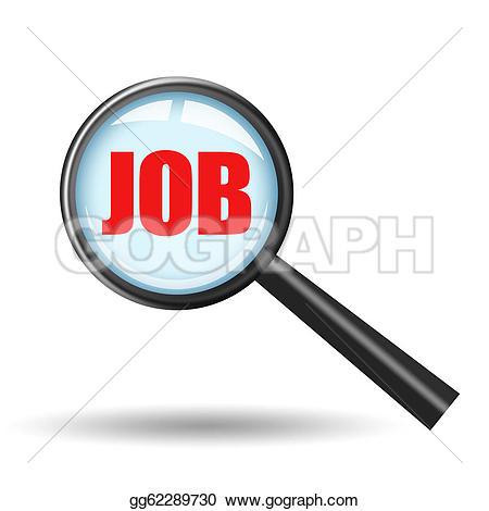 Clipart job search. Clip art icon stock
