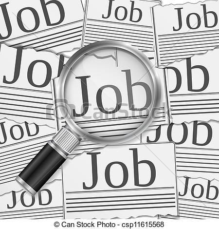Clipart job search. Clip art vector of