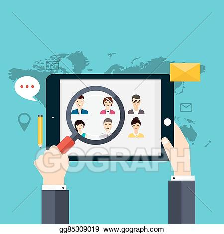 Clipart job search network