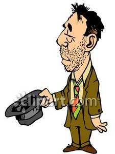 Clipart jobless free library Unemployed Man Begging For Money - Royalty Free Clipart Picture free library