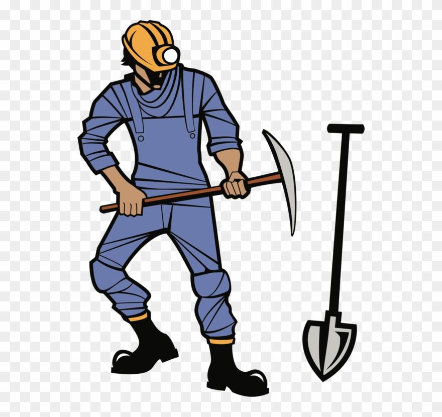 Clipart jobs in mining transparent Coal Mining Miner Pickaxe - Coal Miner Clip Art - Png Download ... transparent