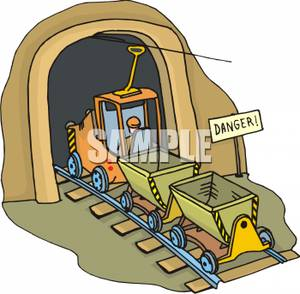 Clipart jobs in mining vector transparent library A Colorful Cartoon of a Mining Train Entering a Mine - Royalty Free ... vector transparent library