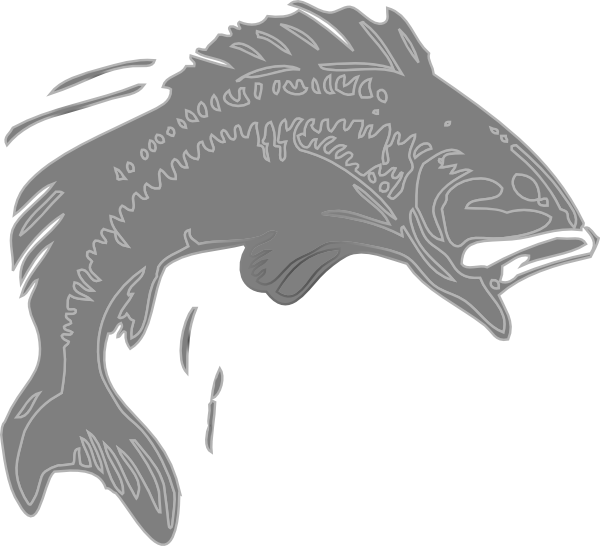 Fish clipart black and white jumping png transparent download Jumping Fish Clip Art at Clker.com - vector clip art online, royalty ... png transparent download