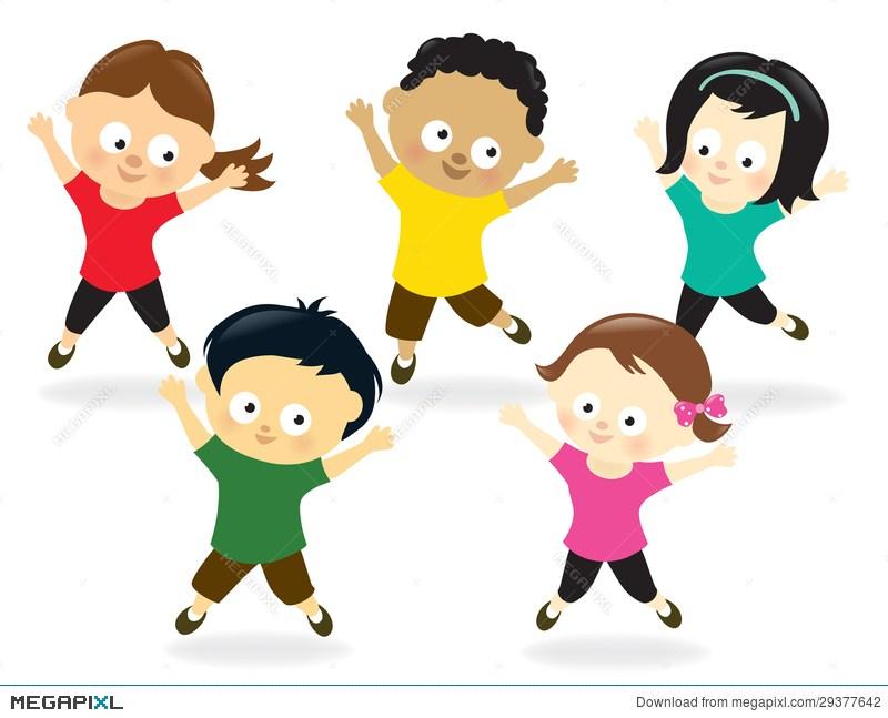 Clipart jumping jacks svg stock Kids doing jumping jacks clipart 4 » Clipart Portal svg stock