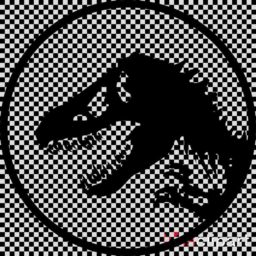Clipart jurassic world dinosaur black and white svg free Jurassic World Logo clipart - White, Dinosaur, Head, transparent ... svg free
