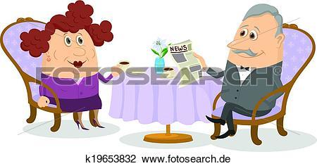 Clipart kaffee trinken jpg free stock Clipart - alt, herr, und, dame, kaffeetrinken k19653832 - Suche ... jpg free stock