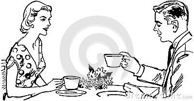 Live stock feed vector. Clipart kaffee trinken
