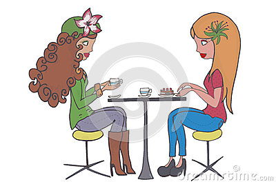 Clipart kaffee trinken png free Die Freunde Tee Trinken Stock Illustrationen, Vektors, & Klipart ... png free