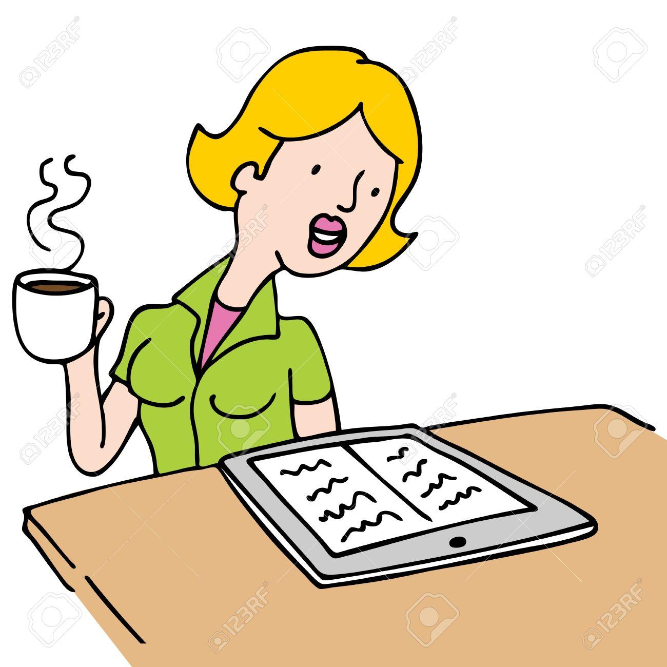 Clipart kaffee trinken png stock Frau Trinkt Kaffee Lizenzfreie Vektorgrafiken Kaufen: 123RF png stock
