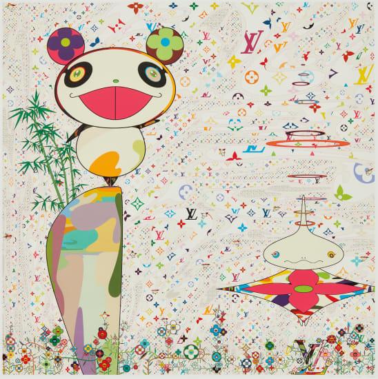 Clipart kaikai kan clip royalty free Takashi Murakami - SUPERFLAT monogram: Panda & His Friends | Phillips clip royalty free