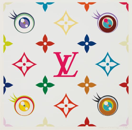 Clipart kaikai kan vector library download Takashi Murakami - Eye Love Superflat (Pink) | Phillips vector library download