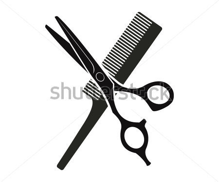 Clipart kamm und schere clip free stock Gallery For > Scissors and Comb Clipart clip free stock