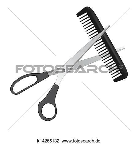 Clipart kamm und schere free stock Clipart - kamm, und, schere, schneiden, stranden k16313341 - Suche ... free stock
