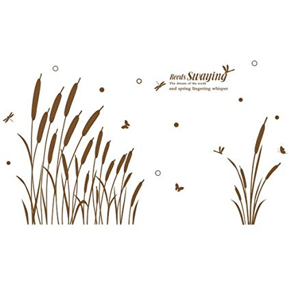 Clipart kan grass graphic freeuse library Amazon.com: Zebra Penguin Fawn Butterfly DIY Wall Decal Stickers ... graphic freeuse library
