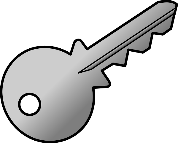 Keys clipart vector black and white stock Key Clip Art Free | Clipart Panda - Free Clipart Images vector black and white stock