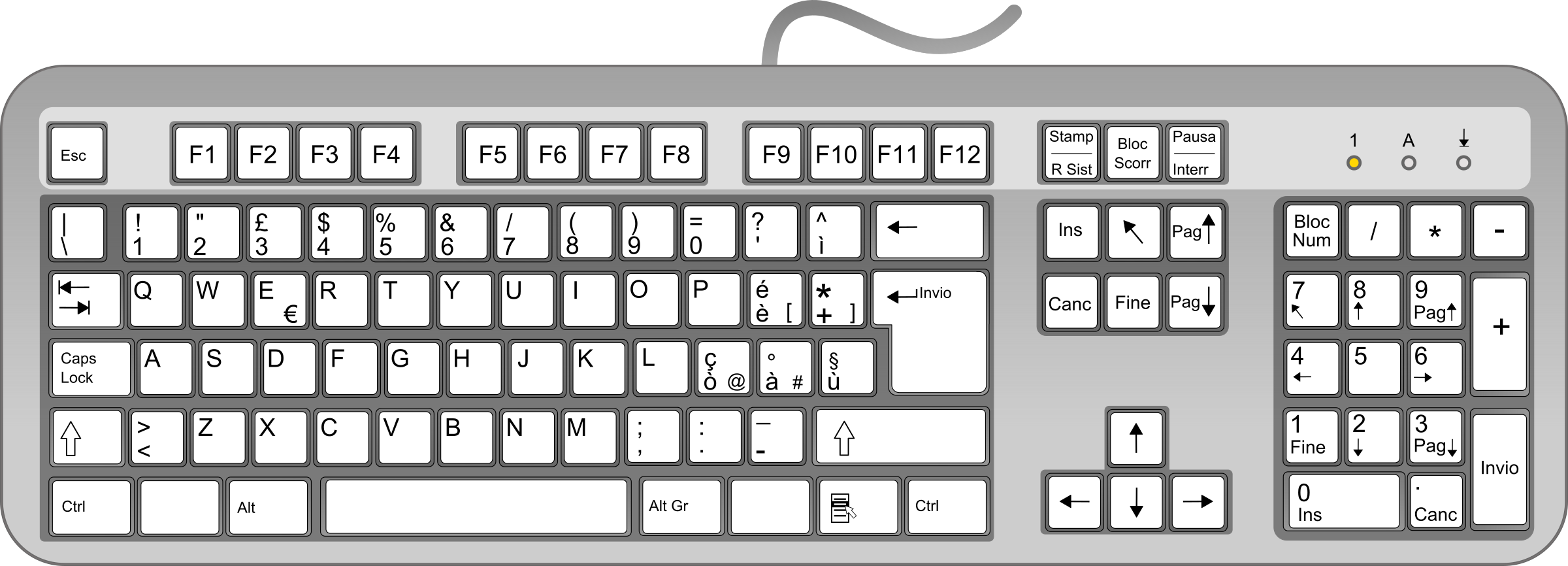 Clipart of computer keyboard svg transparent Clipart - Keyboard ITA svg transparent