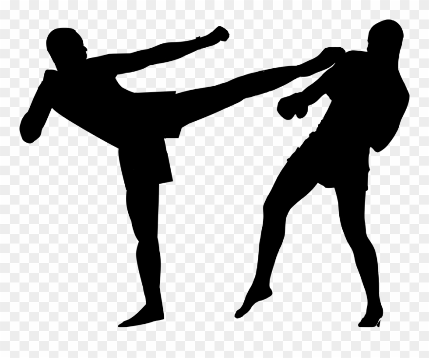 Kick boxing clipart image black and white stock Kickboxing Png - Kick Boxing Clipart (#3238150) - PinClipart image black and white stock