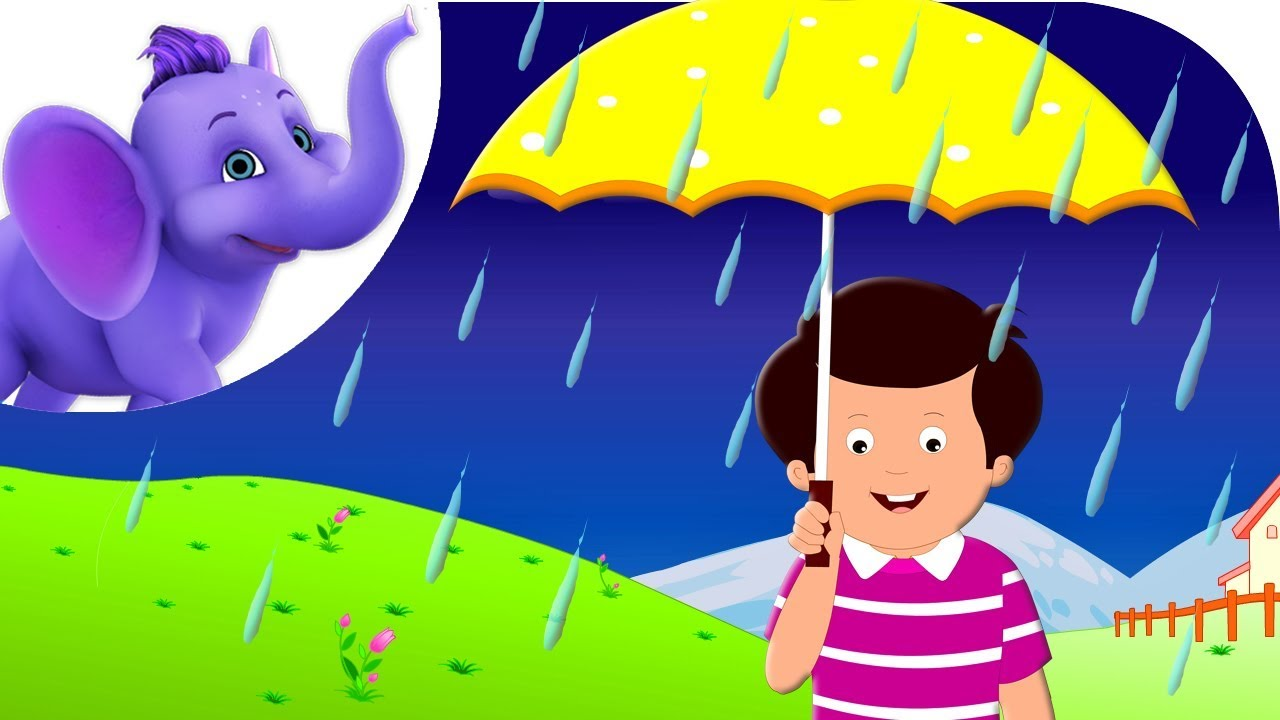 Rain clipart video png transparent download Rain on the Green Grass - Nursery Rhyme with Karaoke png transparent download