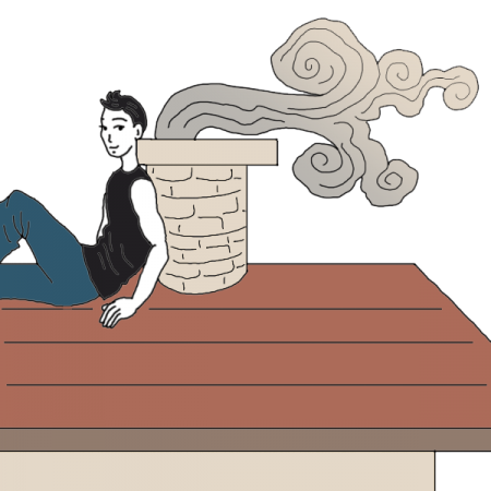 Clipart kid on top of roof looking down clip black and white Roof Dream Dictionary: Interpret Now! - Auntyflo.com clip black and white