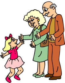 Clipart kid visiting grandma banner Grandparents Activities & Fun Ideas for Kids | ChildFun banner