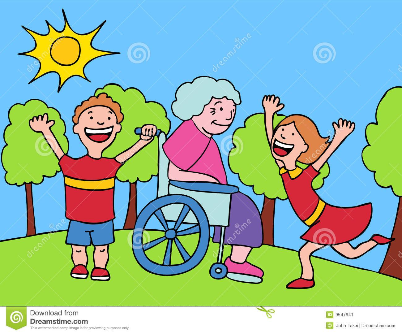 Clipart kid visiting grandma png Visit with Grandma | Clipart Panda - Free Clipart Images png