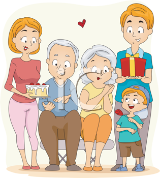 Grandparents Day Clipart - Gifts for Grandma and Grandpa | Clip Art ... graphic library library