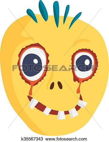 Clipart kids character heads clipart transparent Clipart of Zombie Head Cartoon Character k35567343 - Search Clip ... clipart transparent