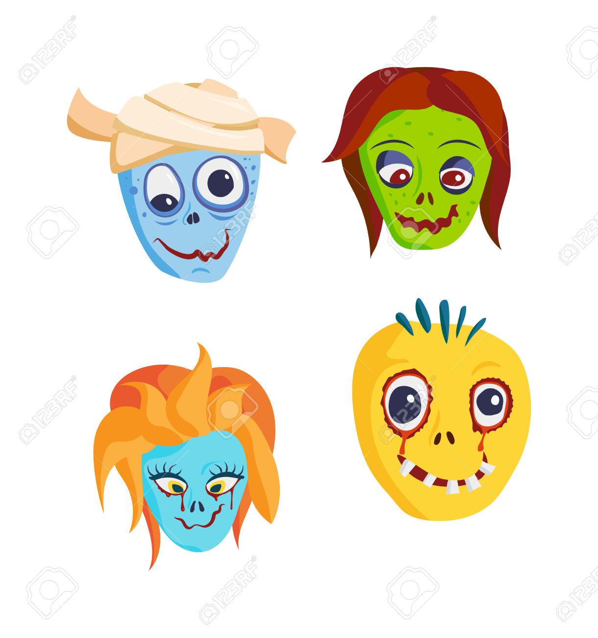 Clipart kids character heads banner royalty free Clipart kids character heads - ClipartFest banner royalty free