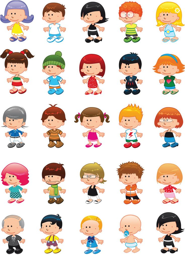 Clipart kids character heads clip black and white download 1000+ images about Cartoon Kids on Pinterest | Image vector, Clip ... clip black and white download