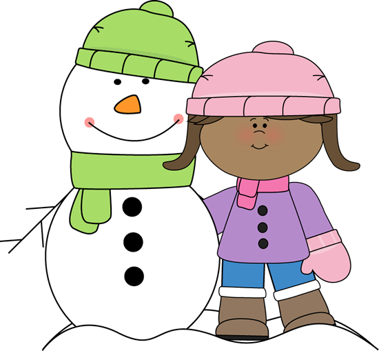 Kids playing in snow clipart transparent background vector free Winter Clip Art - Winter Images vector free