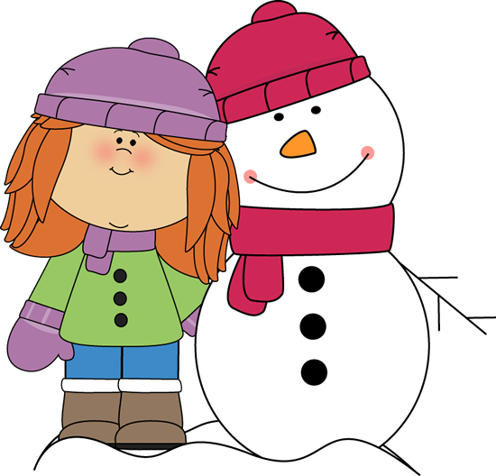 Winter teacher clipart png free library Girl with Arm Around Snowman | Snowman Penguins Winter Teaching ... png free library